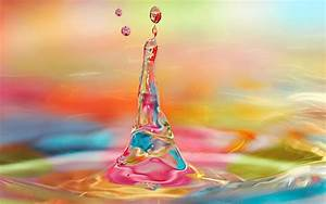 Colorful water art