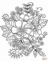 Coloring Pages Flowers Wild Flower Printable Popular sketch template