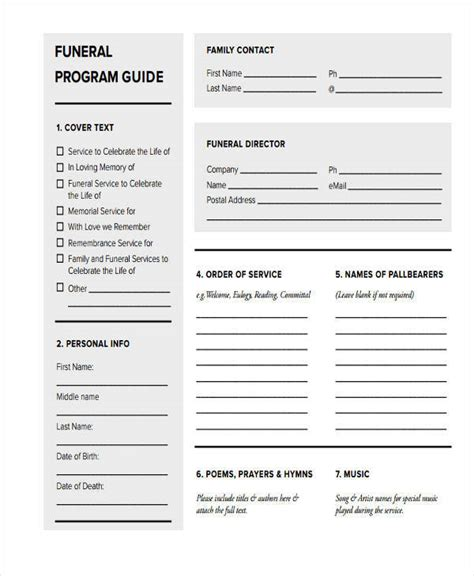 blank funeral program template 26 free obituary templates sle templates