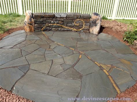 what to put between flagstones on a patio what to put between flagstone joints polymeric sand or stone dust devine escapes