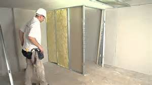 how to install a stud wall with insulation and access