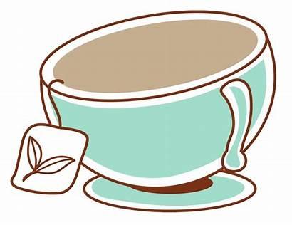 Tea Teacup Cup Clipart Animation Transparent Silhouette