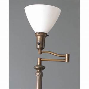 Antique swing arm floor lamp for Antique floor lamp electrical parts