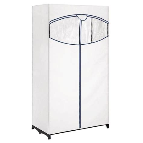 whitmor 36 in wide white clothes closet with outer cover