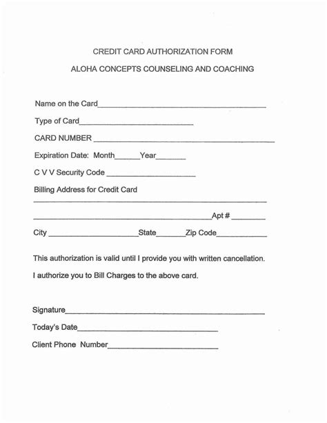 counseling release  information form template