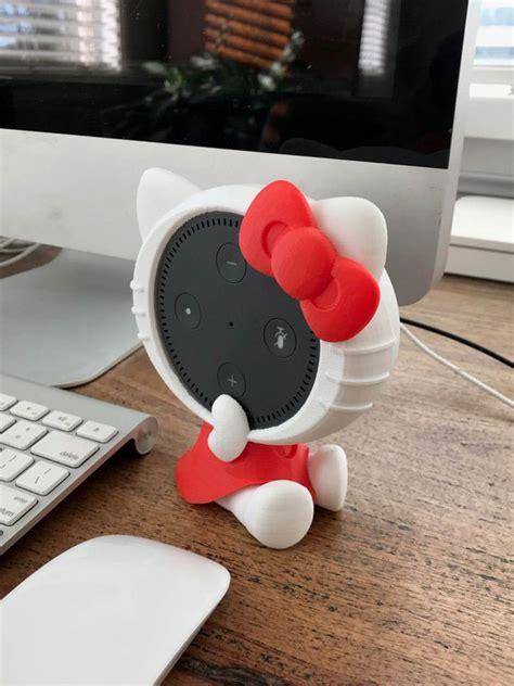 printed  kitty amazon echo dot holder