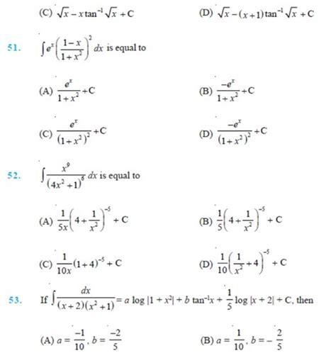 important questions  class  maths chapter  integrals
