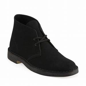 Clark's Original's Men's Desert Boot Black Suede Supreme
