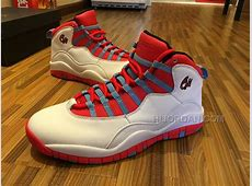 Air Jordan 10 Retro Chicago Flag WHITEUNIVERSITY BLUE