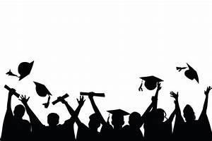 Graduation clipart shadow - Pencil and in color graduation ...