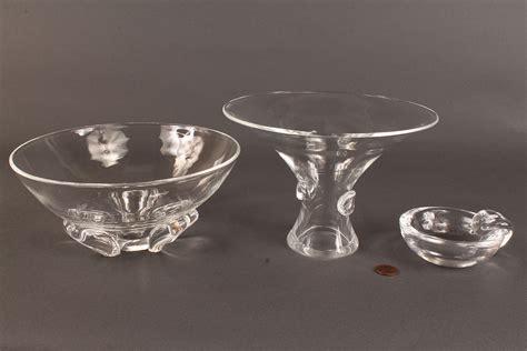 Steuben Barware by Lot 168 Lot Of 3 Steuben Glassware Items