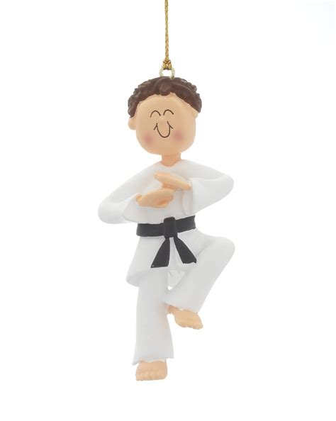 karate male christmas ornament karate
