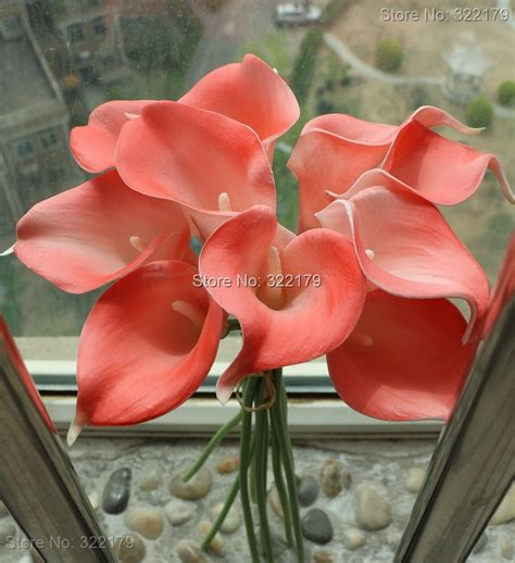 coral calla lily flowers real touch calla lilies