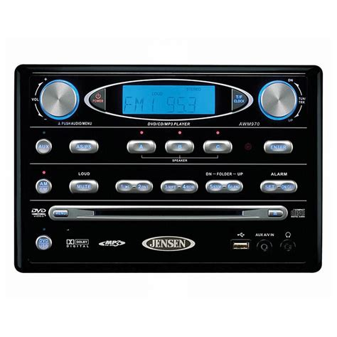 Jensen Wall Mount AWM965 AM / FM CD Stereo, Charcoal ...