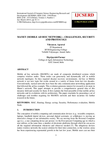 mobile network security manet mobile ad hoc network challenges security and