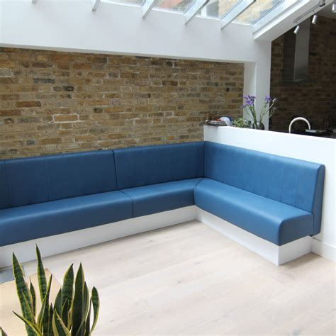 Seating Bench by Sewn Fluted Back Fixed Bench Seating Bench Seating