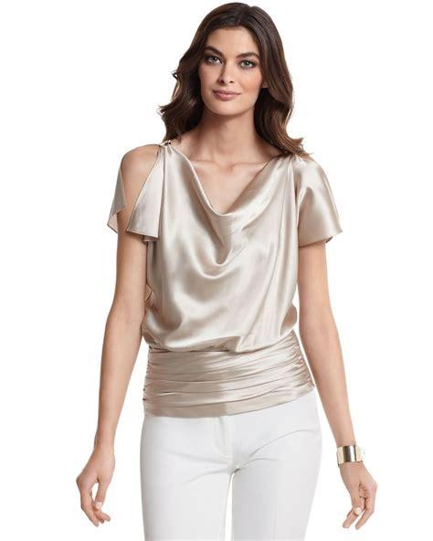 silk charmeuse blouse silk charmeuse split sleeve blouse