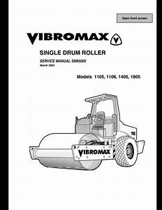Vibromax 1105 1106 1405 1805 Sigle Drum Roller Service