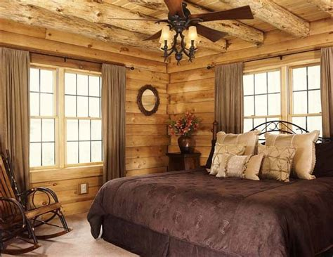 Log Cabin Bedroom Decorating Ideas Elitflat