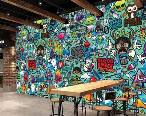 custom childrens wallpaper abstract graffitid cartoon