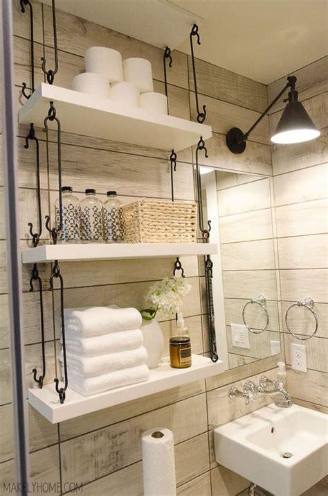 25 best ideas about bathroom shelves on half