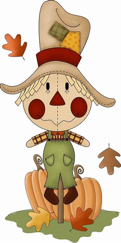 Clip Clipart Scarecrow Fall Thanksgiving Autumn Halloween