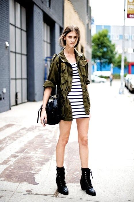 striped army look dress modern 10 fall fashion trends for teenagers