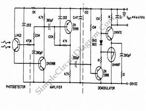 50 Khz Fm Optical Receiver  U2013 Simple Circuit Diagram