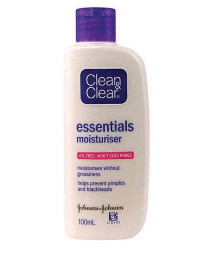 Harga Clean Clear Essentials clean and clear moisturizer product