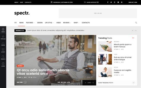 22 Best Responsive News Website Templates 2018 Colorlib