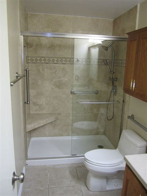 handicap shower stall   small budget   lot