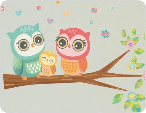 Owl Wall Stickers-eclectic-kids Wall Decor-sydney