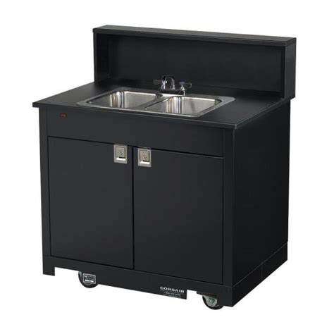 kitchen sink portable bay sink cart all aluminum composite material 2834
