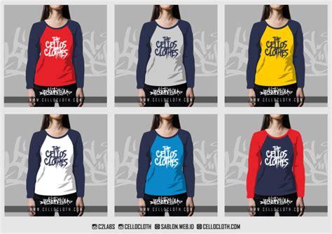 Tshirt Keren Adem Oblong Kaos kombinasi warna kaos raglan lengan panjang 3 4