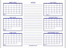 6 Month Calendars Printable Calendar Template 2018