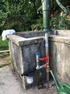 Schwengelpumpe Mit Elektropumpe Silex Holzfass Brunnen Donau Mit