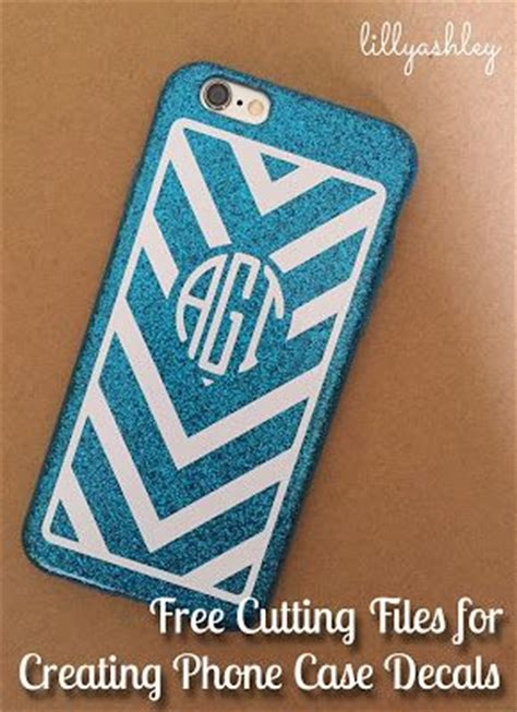 diy monogrammed phone case decal   cutting file svg set silhouette cameo pinterest
