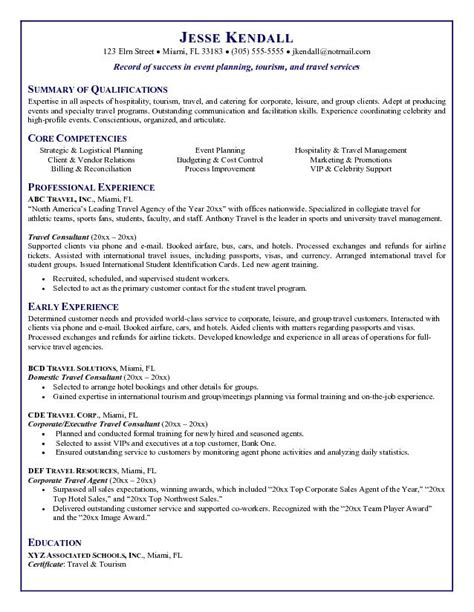 exle resume tour guide resume exle