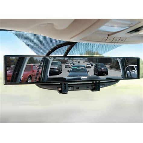 Rear View Mirror Blind Spot by The No Blind Spot Rear View Mirror Hammacher Schlemmer