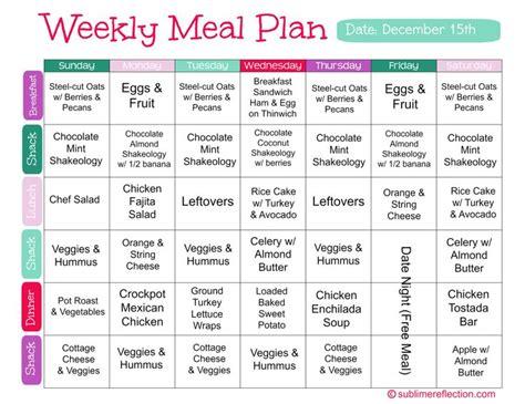 diet plan  lose weight clean eating meal plan