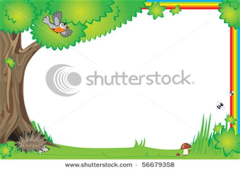 stock vector frame  design children photo  elements