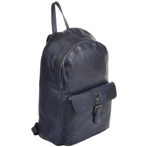 how to wash a backpack unisex leather vintage wash backpack navy 1331