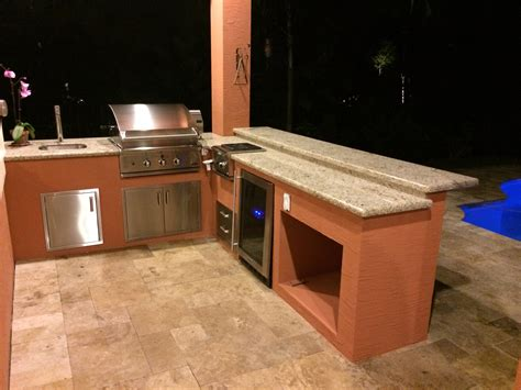L Shaped Kitchen Islands - dcs and lynx sedona outdoor kitchens bbq depot