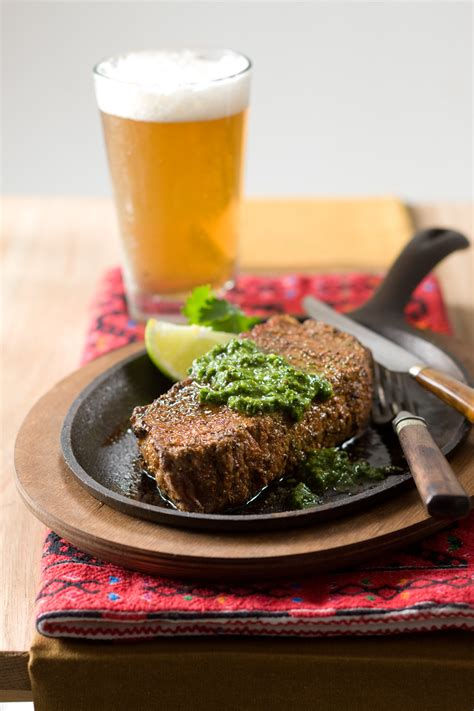 perfect grilled dinner steaks  sides relish