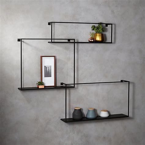 piece large matte black floating shelves reviews cb