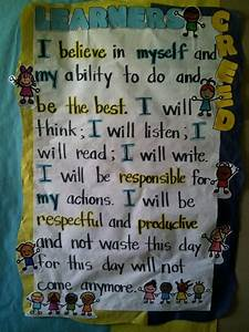 Anchor Growth Chart Learners Creed Anchor Charts School Posters Back To