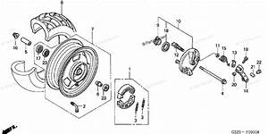 Honda Scooter 2003 Oem Parts Diagram For Front Wheel