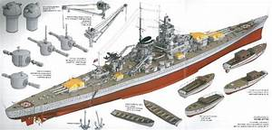 Schematic Of The Battleship Gneisenau