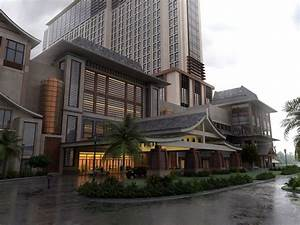 Exclusive Hotel Building with Grand Entrance 3D Model MAX ...