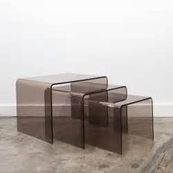 Table En Plexiglas : trio de tables gigognes en plexiglas fum ~ Teatrodelosmanantiales.com Idées de Décoration